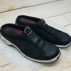 Cole Haan Nike Air slip on leather tennis shoes